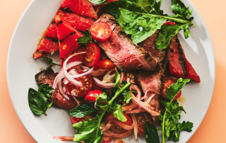 grilled watermelon steak salad