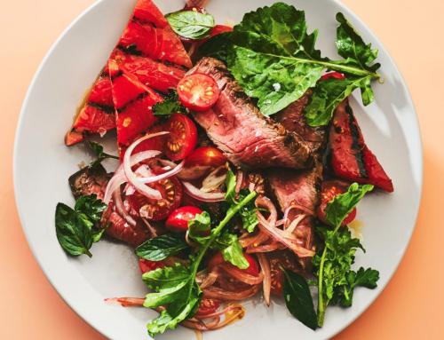 Grilled Watermelon + Steak Salad